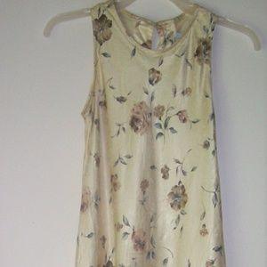 Dresses & Skirts - long floral slip dress 7/8